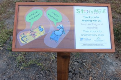 A StoryWalk panel from Scott County Library in Scott City, Kansas. The collaborative program has its Salt Spring launch on Jan. 20.