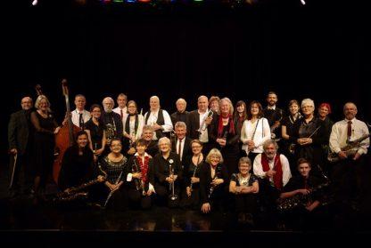 Salt Spring Concert Band after last year's winter concert.