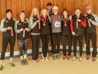 Salt Spring Sneakers club members with latest ribbons and medals.