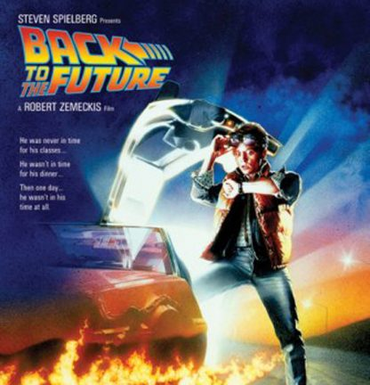 Back to the Future movie poster. The 1985 time-travelling classic plays at the SS Library on Saturday, Feb. 25 at 7 p.m. It's free for kids aged 10 and up.