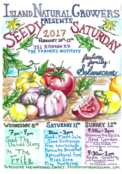 Seedy Saturday 2017 event poster.