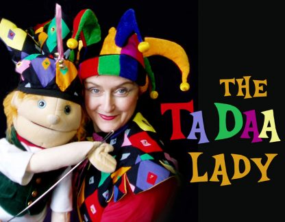 Angela Brown is The Ta Daa Lady, bringing her puppet friends to a special Family Day concert at Mahon Hall on Feb. 13.