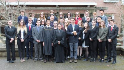 BC Youth Parliament reps from Vancouver Island and the Gulf Islands meeting at GISS March 10-12.