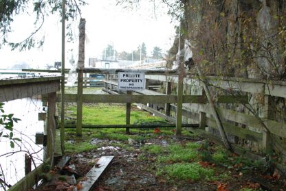 Part of the abandoned Ganges boardwalk photographed last fall. A new Ganges Harbour Walk Steering Committee is ready to get down to serious work.