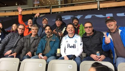 A rare image of some Old Boys on a scouting mission at BC Place the day before their Vantreights game, submitted by an anonymous correspondent.