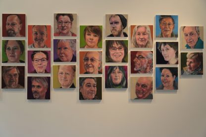 Some of the portraits of Salt Spring Islanders in Susan Benson's series, part of a new exhibition of Benson's work at Duthie Gallery until May 7.