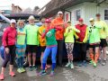 Salt Spring Sneakers club members, wearing bright clothing, launch their #SeeMe campaign Friday in tandem with a group run.