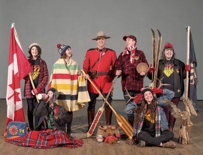 GISS Senior Improv Team members in their all-Canadian guise.