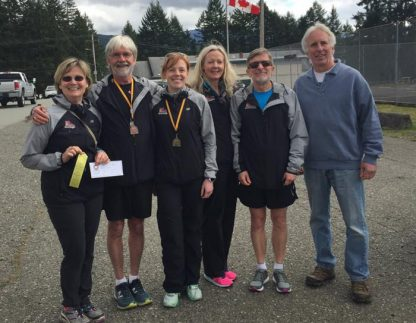Winning Salt Spring Sneakers runners at Port Alberni.