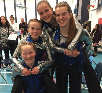 Salt Spring gymnasts Kumi, Isabelle, Nikoya and Nina.
